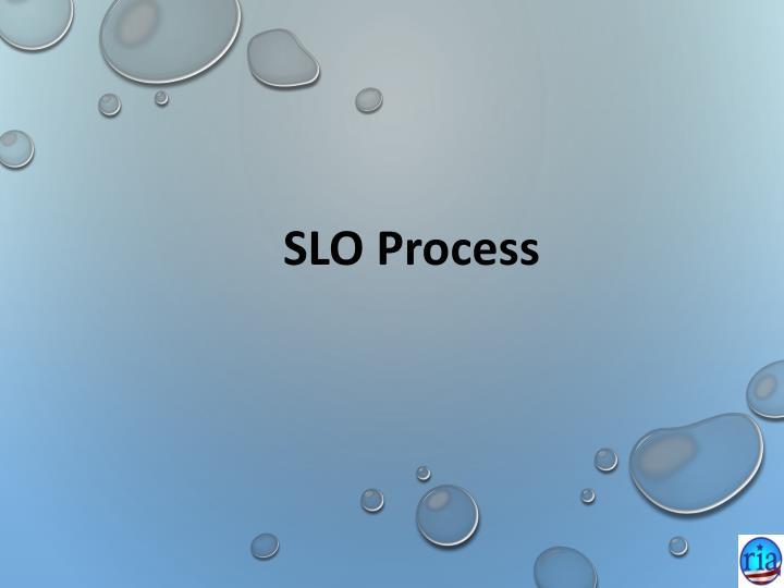 SLO Process