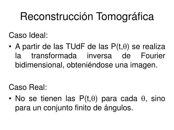 Reconstrucción Tomográfica