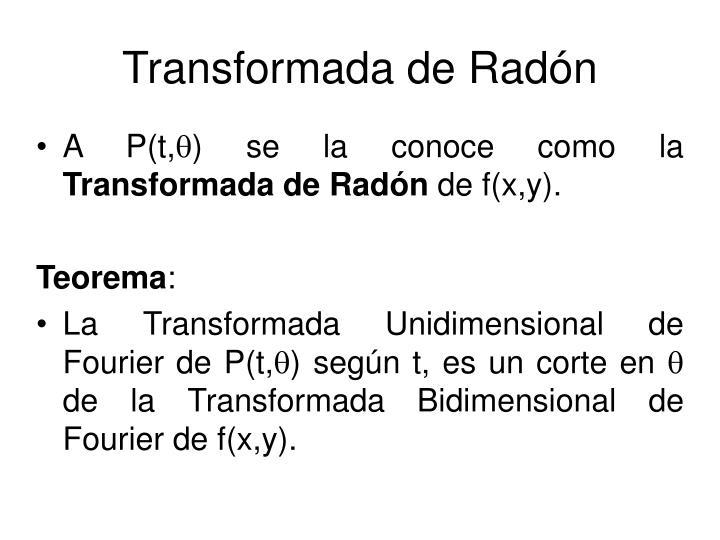 Transformada de Radón