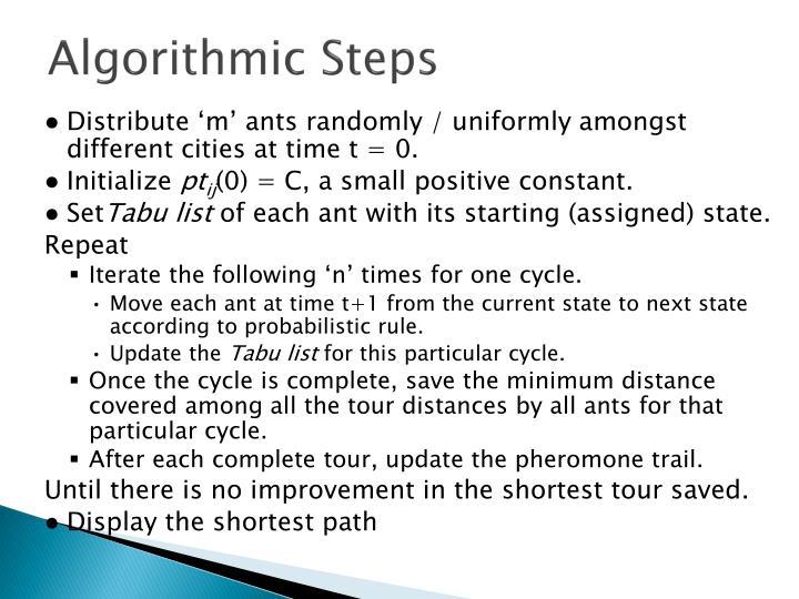 Algorithmic Steps