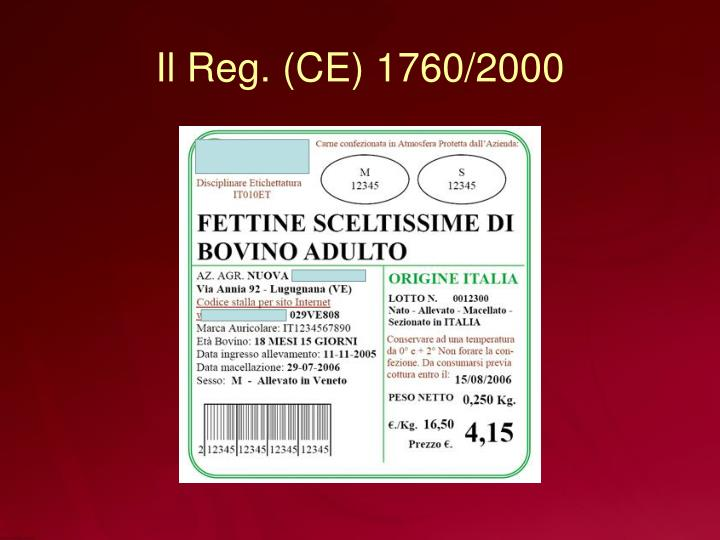 Il Reg. (CE) 1760/2000
