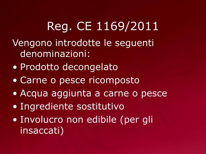 Reg. CE 1169/2011