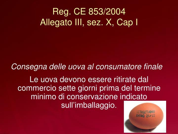 Reg. CE 853/2004