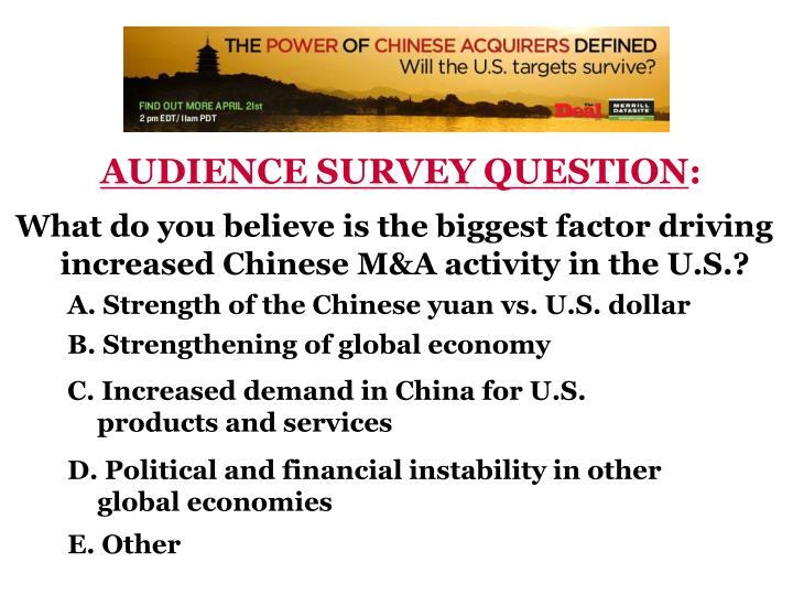 AUDIENCE SURVEY QUESTION
