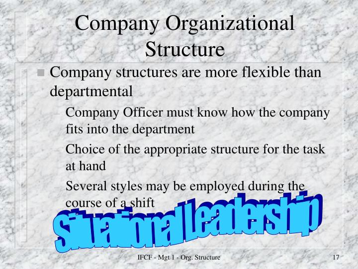 Company Organizational Structure