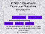 typical approaches to department operations1