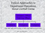 typical approaches to department operations2