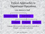 typical approaches to department operations3