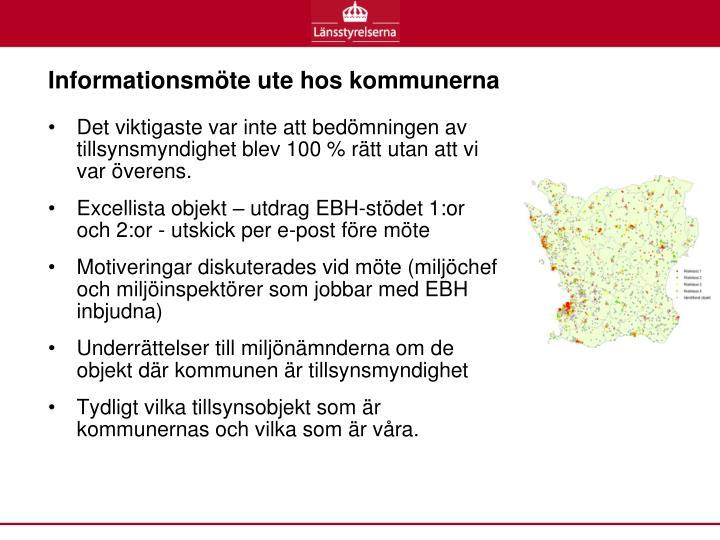 Informationsmöte ute hos kommunerna
