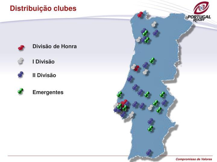 Distribuição clubes