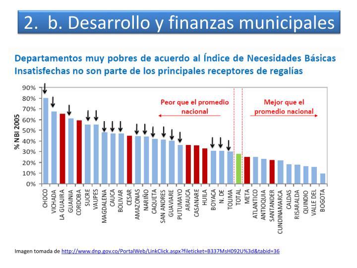 2.  b. Desarrollo y finanzas municipales