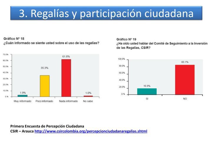 3. Regalías y participación ciudadana