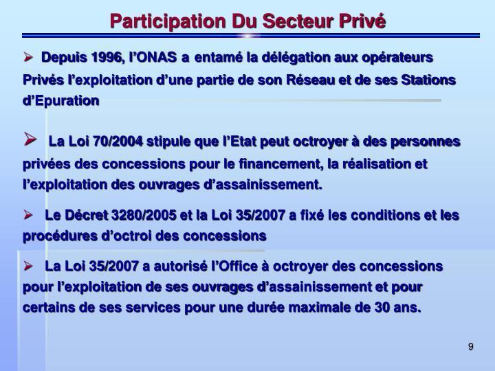 Participation Du Secteur Privé