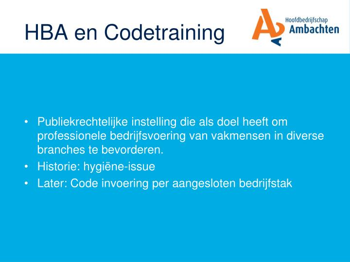 HBA en Codetraining