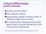 critical differentiator xelusplan advantages