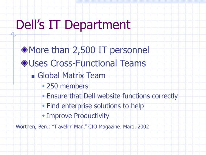 Dell's IT Department
