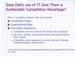 does dell s use of it give them a sustainable competitive advantage1