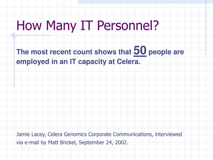 How Many IT Personnel?