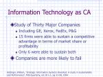 information technology as ca