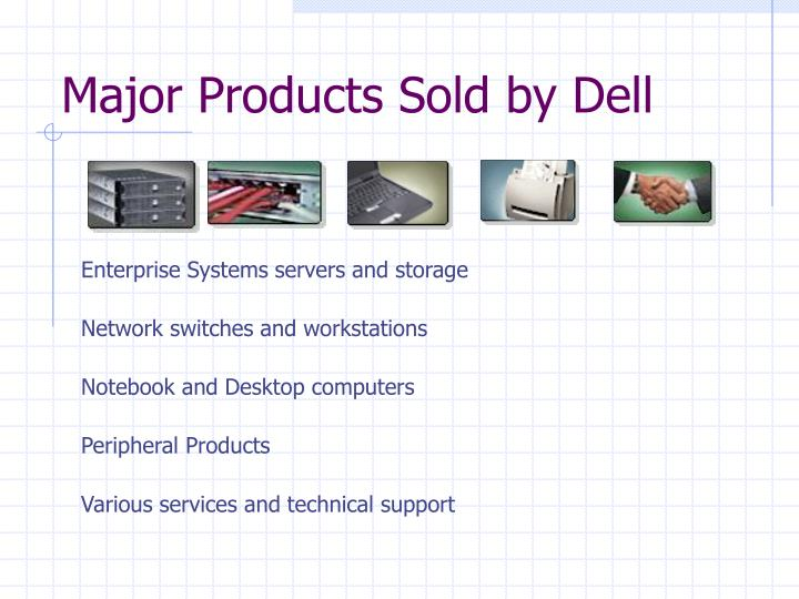 Major Products Sold by Dell
