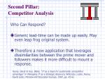 second pillar competitor analysis