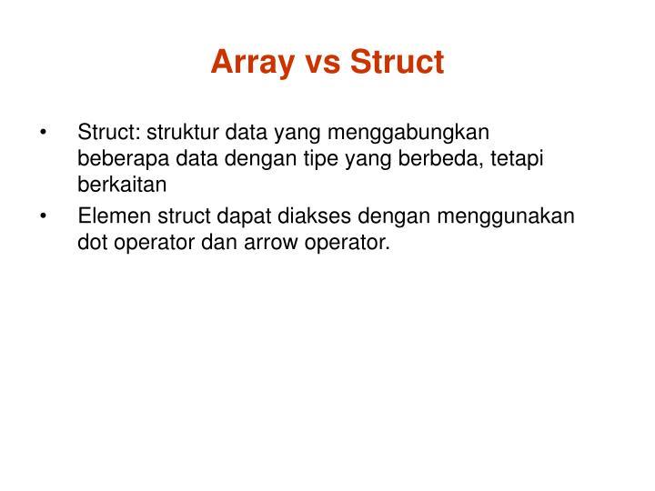 Array vs Struct