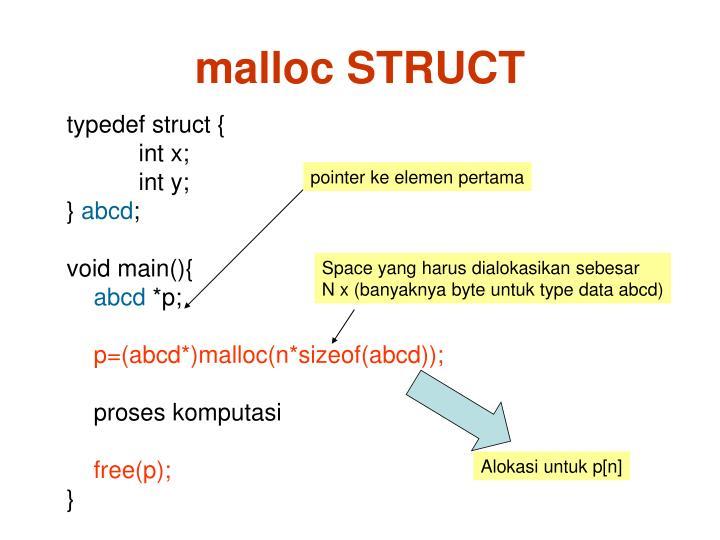 malloc STRUCT