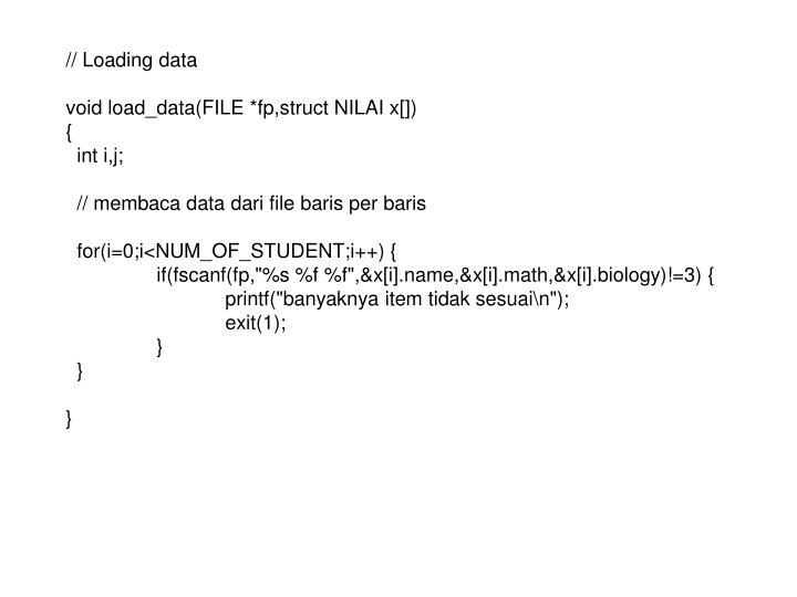 // Loading data
