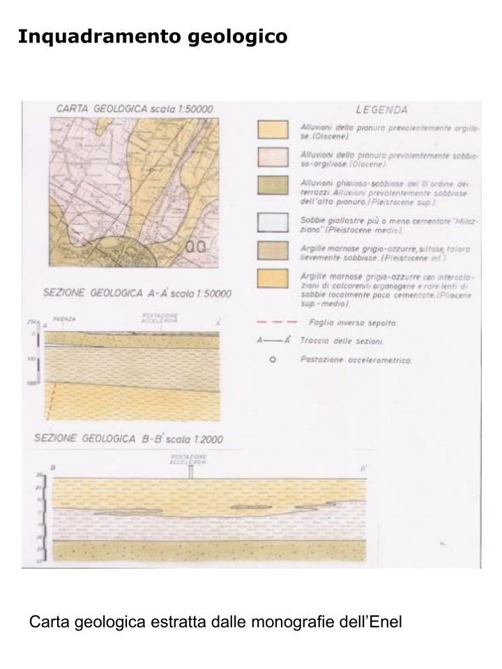 Inquadramento geologico