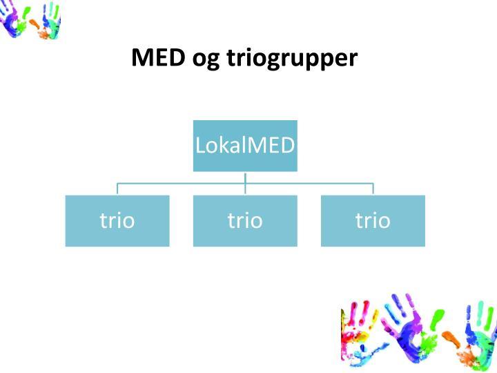 MED og triogrupper