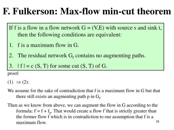 F. Fulkerson: Max-flow min-cut theorem