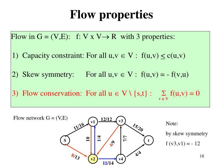 Flow properties