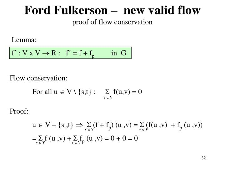 Ford Fulkerson –  new valid flow