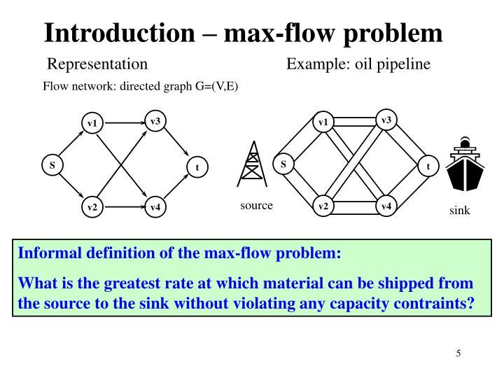 Introduction – max-flow problem