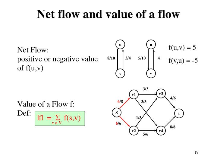 Net flow and value of a flow