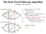 the basic ford fulkerson algorithm example of an execution13
