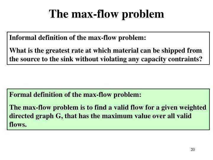 The max-flow problem