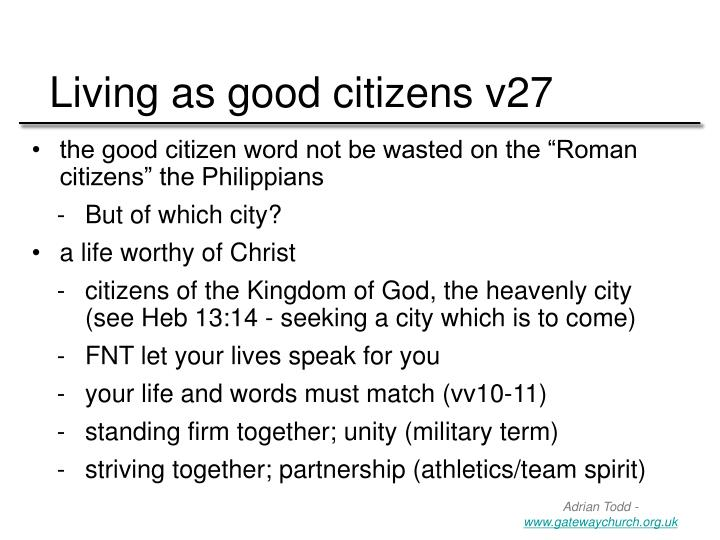 Living as good citizens v27