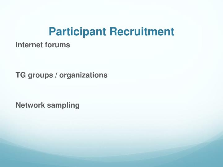 Participant Recruitment
