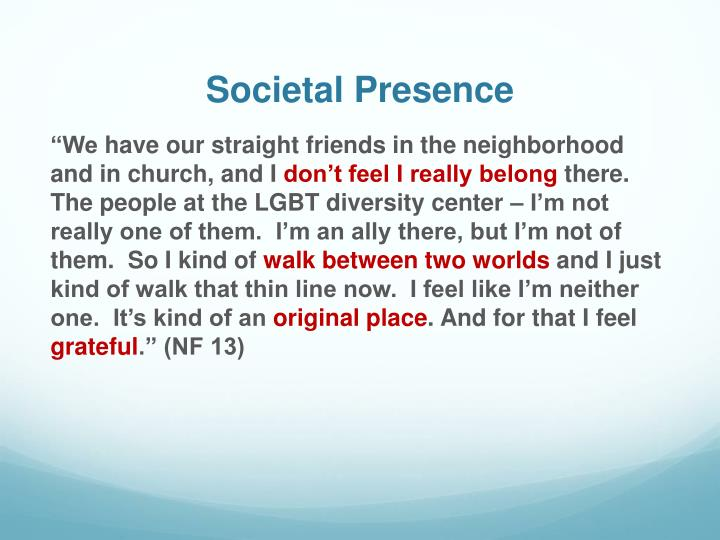 Societal Presence