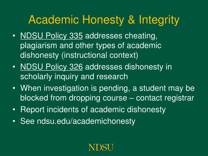 Academic Honesty & Integrity