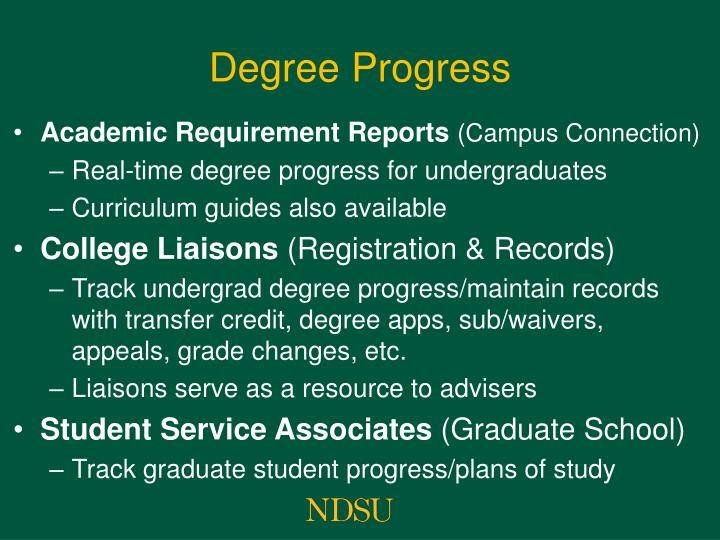Degree Progress