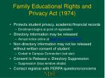 family educational rights and privacy act 1974