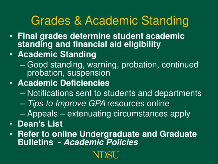 Grades & Academic Standing