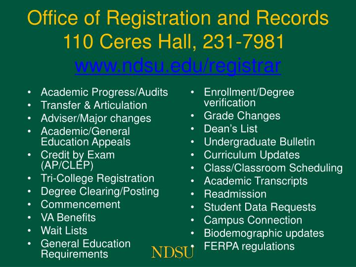 Academic Progress/Audits