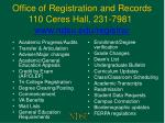 office of registration and records 110 ceres hall 231 7981 www ndsu edu registrar