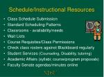 schedule instructional resources