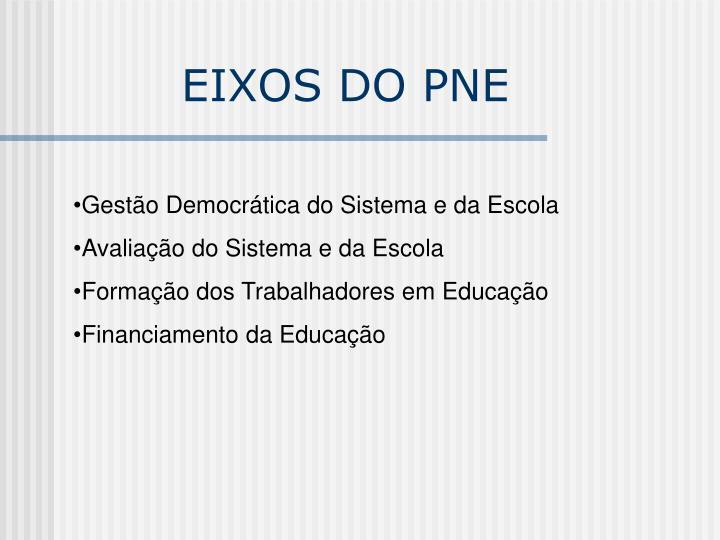 EIXOS DO PNE
