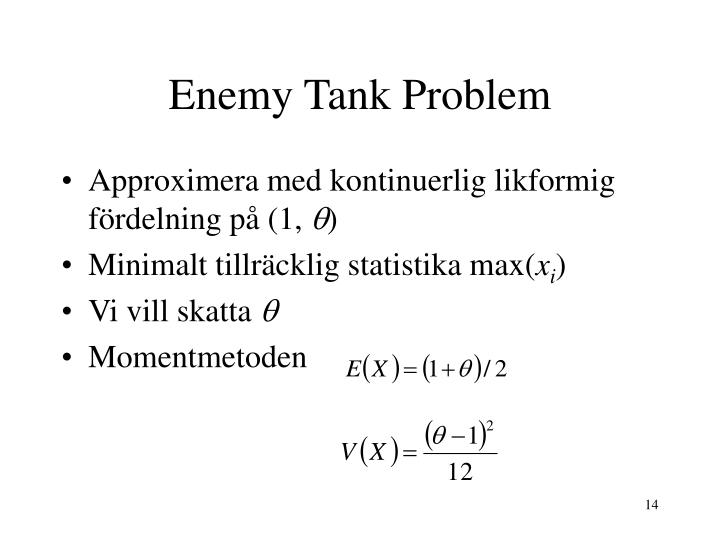 Enemy Tank Problem