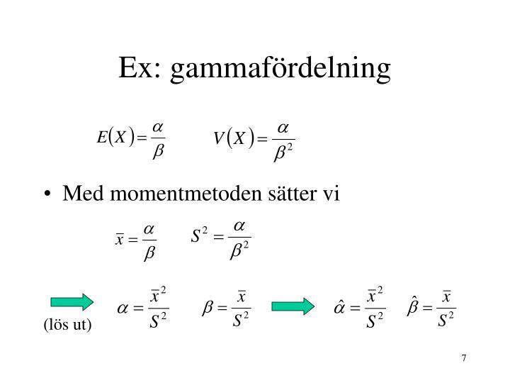 Ex: gammafördelning